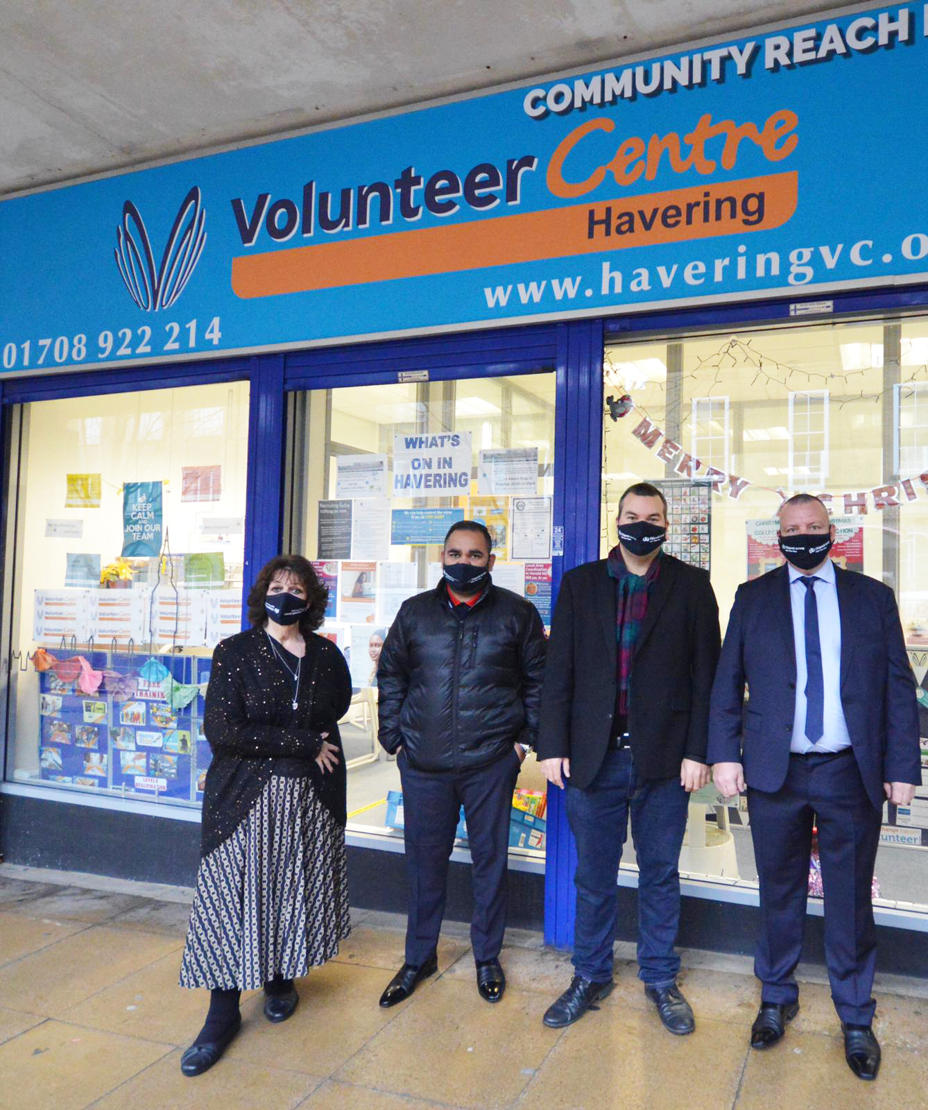Dean Floyd and Sunny Attlas at Havering Volunteer Centre