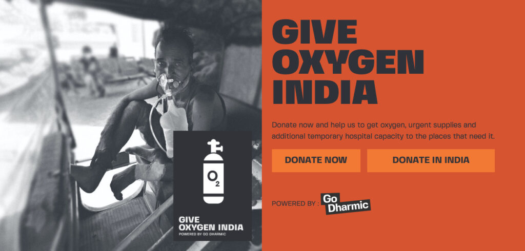 godharmic.com campaigns give-oxygen-india